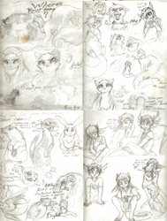 Sketchmainia1# [Sketches] by WarriorRainyDay
