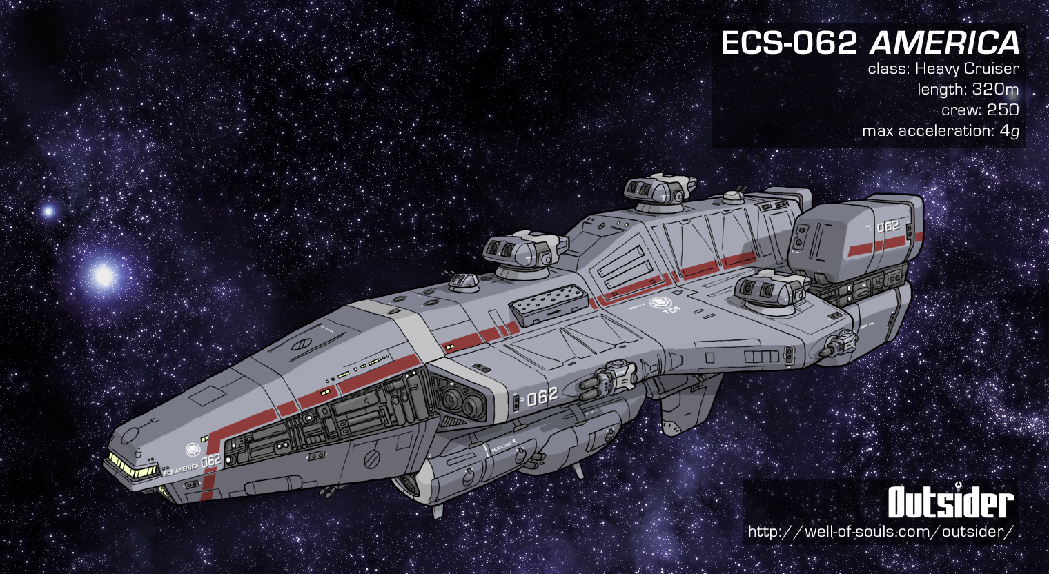Outsider: Terran Heavy Cruiser by AriochIV