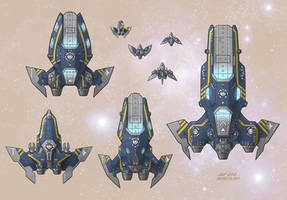 Stars in Shadow: Ashdar Carriers and Fighters by AriochIV