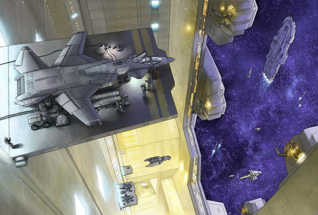 Saber Prep in Titan Hangar by AriochIV