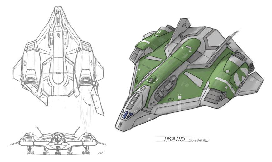 Outsider: Highland Shuttle Design by AriochIV