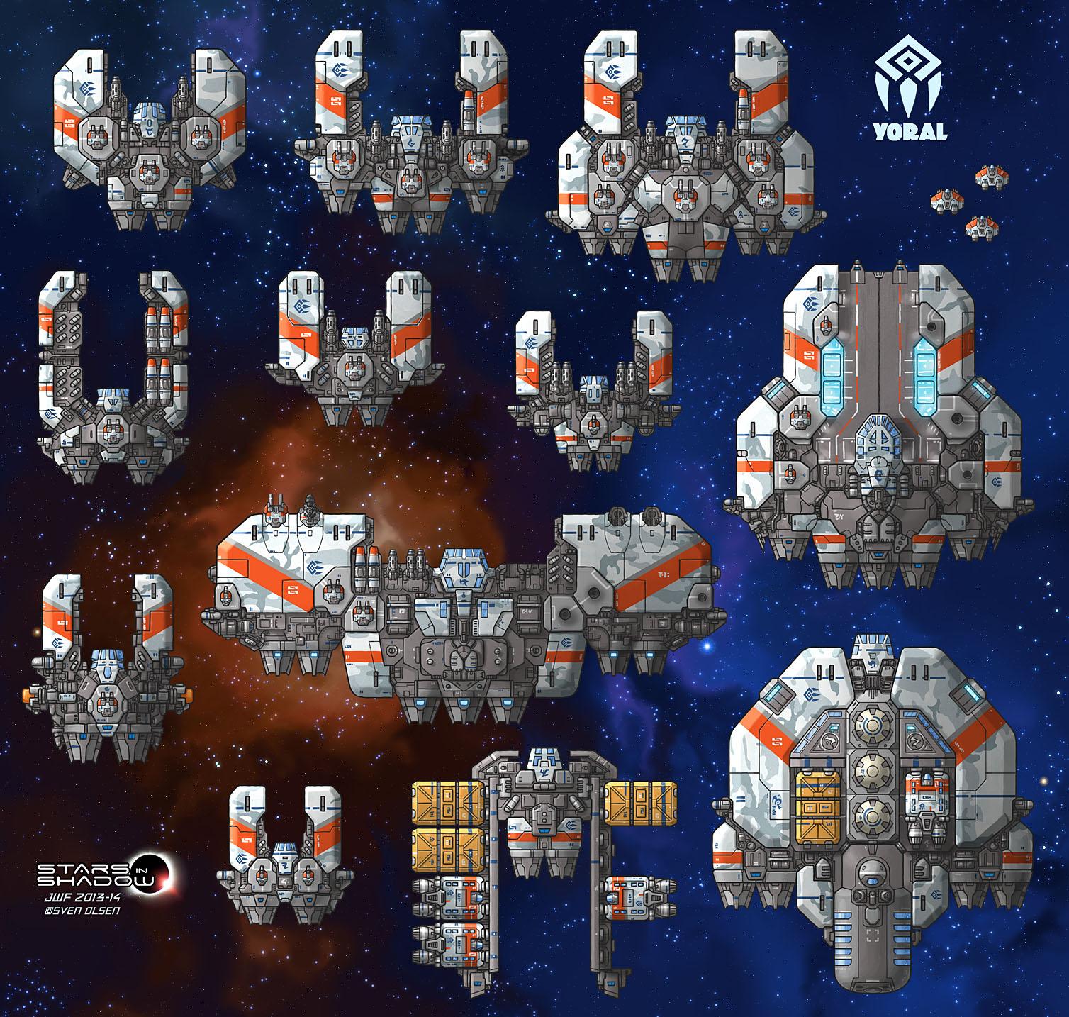 Stars in Shadow: Yoral Ships by AriochIV