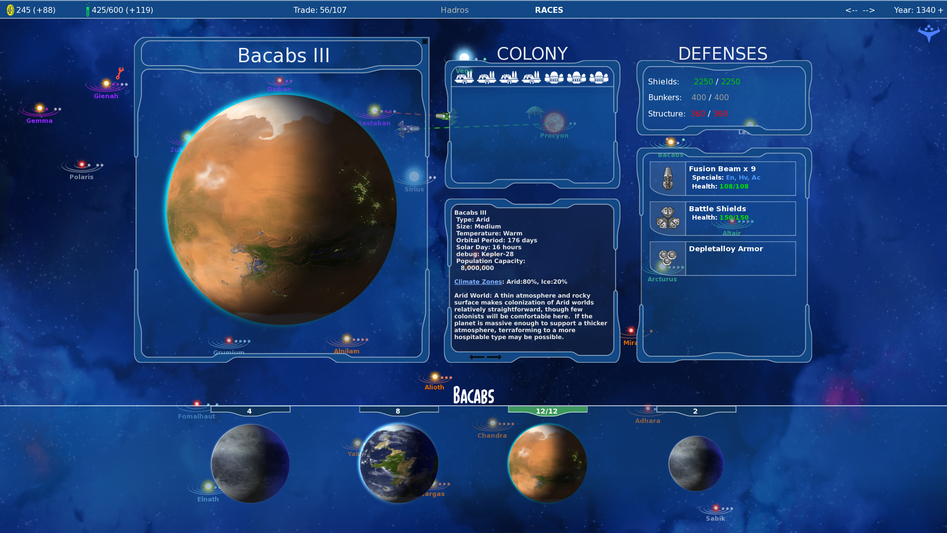 Stars in Shadow: Arid Planet Info Screenshot by AriochIV