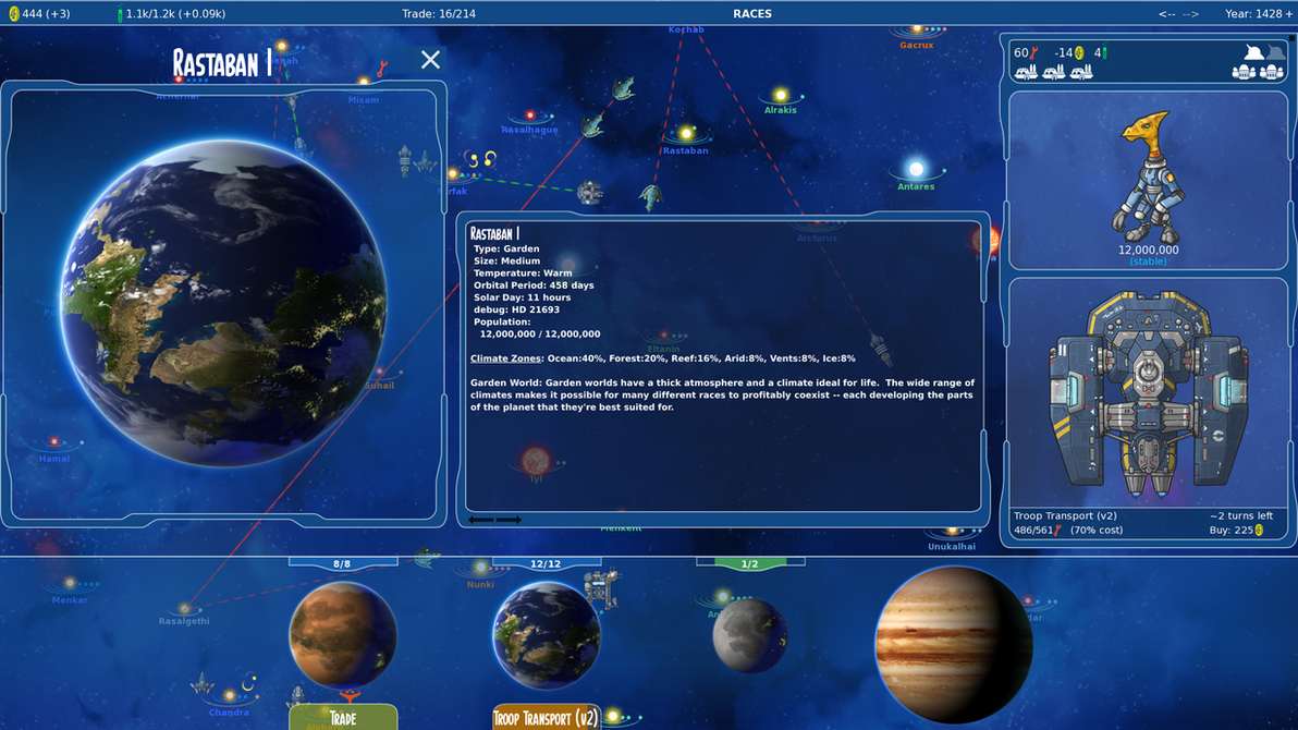 Stars in Shadow: Terran Planet Info Screenshot by AriochIV