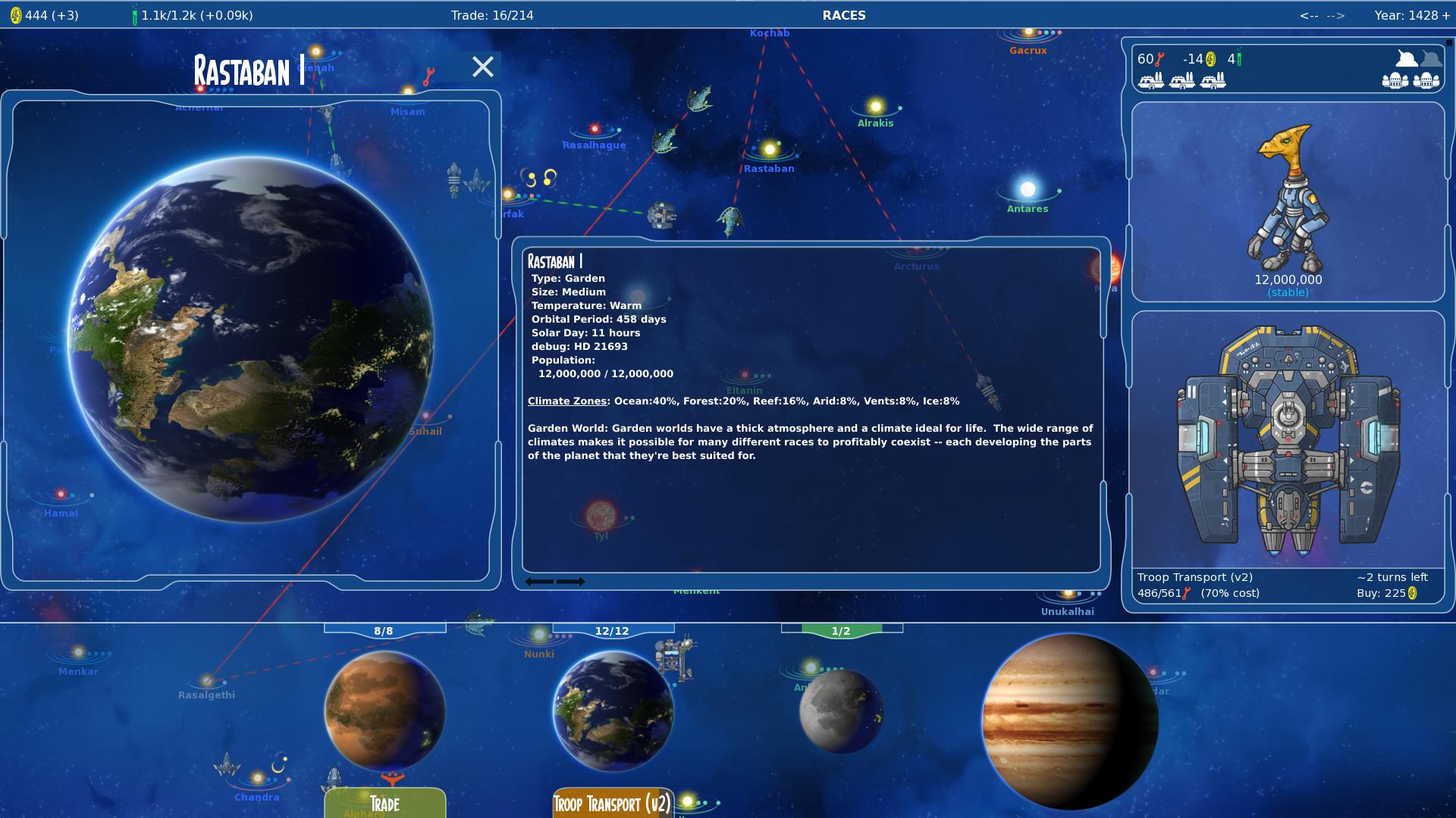 Stars in Shadow: Terran Planet Info Screenshot by AriochIV