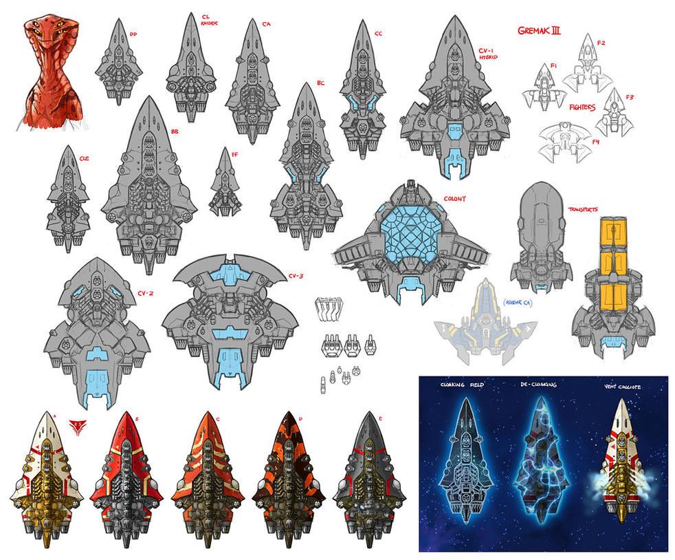 Stars in Shadow: Gremak Design Thumbnails by AriochIV