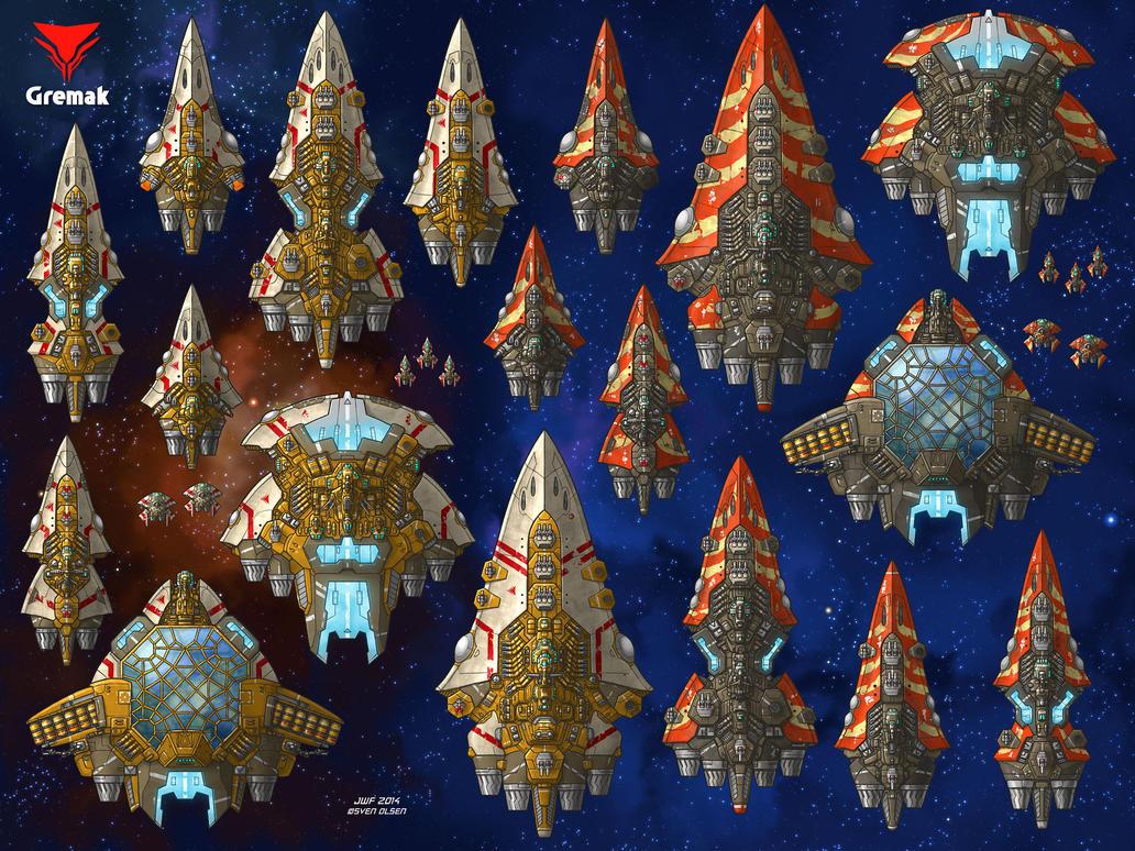 Stars in Shadow: Gremak Ships by AriochIV