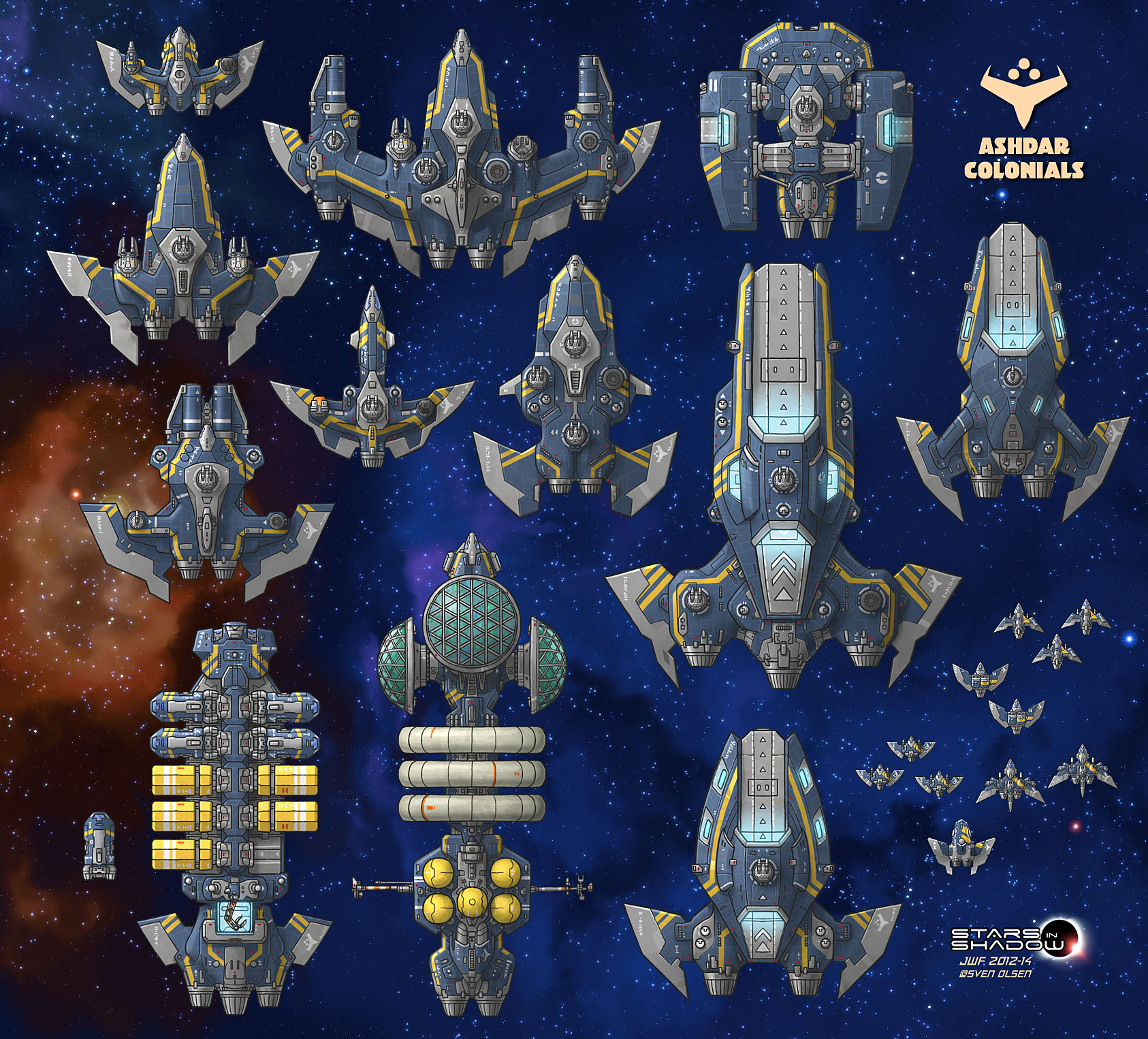 Stars in Shadow: Ashdar Ships (Revised) by AriochIV
