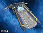 Stars in Shadow: Ashdar Carrier Illustration WIP