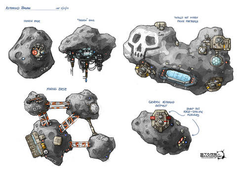 Stars in Shadow: Asteroid Bases