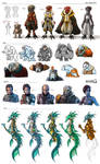 Stars in Shadow: Miscellaneous Character Designs