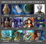 2014 Monthly Art by AriochIV