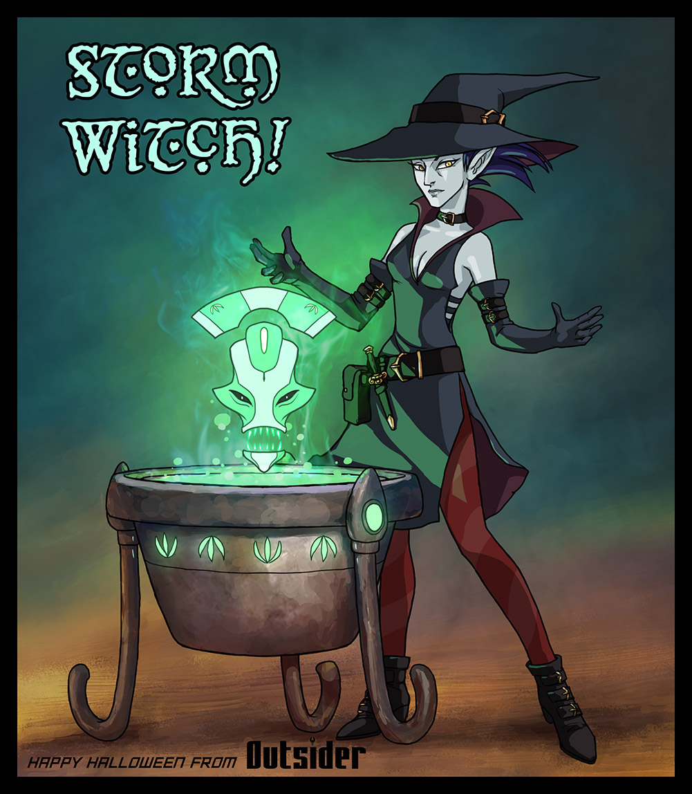 Outsider - Storm Witch by AriochIV