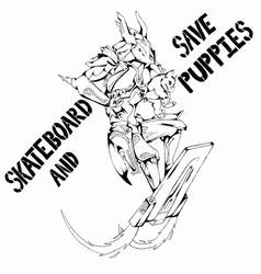 Skateboard and Save Puppies