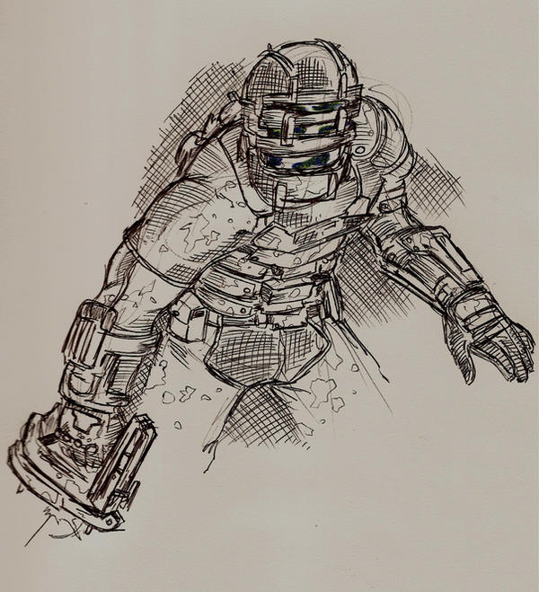 Dead Space sketch 1 by CrimeRoyale