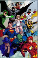 Justice League color by CrimeRoyale