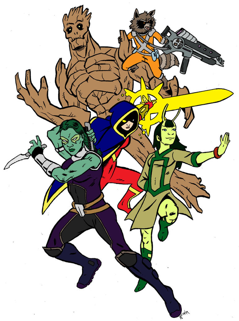 Guardians of the Galaxy by CrimeRoyale
