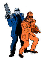 Captain Cold and Heatwave by CrimeRoyale