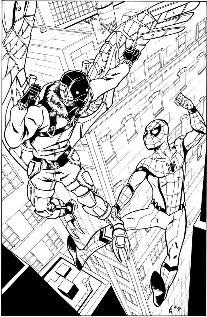 Spider Man Homecoming Inks By CrimeRoyale