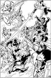 Commission: Marvel 7 VS DC 7