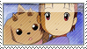 Suzie and Lopmon Stamp by SpadaStamps