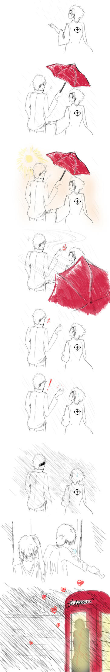 IchiHitsu - Umbrella by Miribirdy