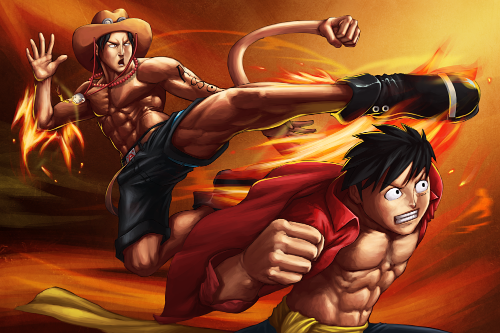 ace and luffy fighting wallpaper - photo #16