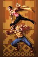 Jubilee and Wolverine by GenghisKwan
