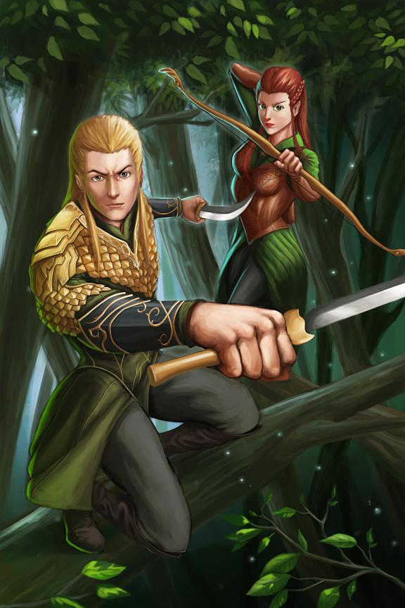 Legolas and Tauriel by GenghisKwan on DeviantArt