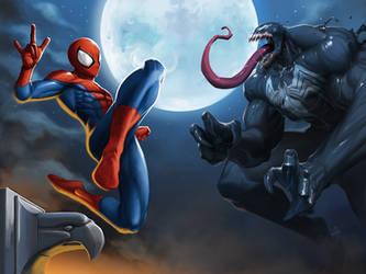 Spider-Man VS Venom! by GenghisKwan