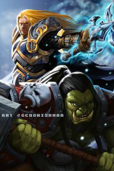 Warcraft - Thrall and Arthas