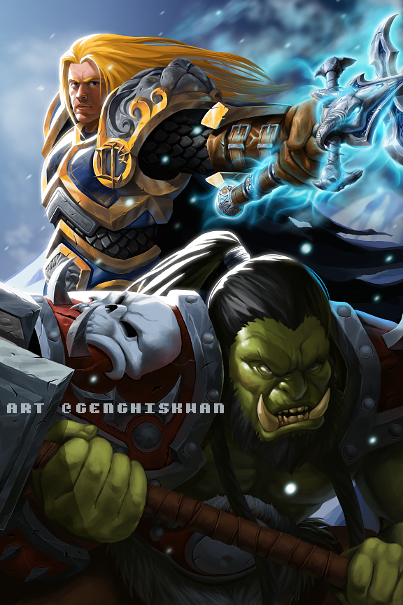 Warcraft - Thrall and Arthas by GenghisKwan