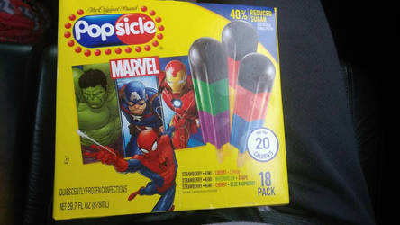 Popsicle MARVEL package by AngryBirdsatSFOT