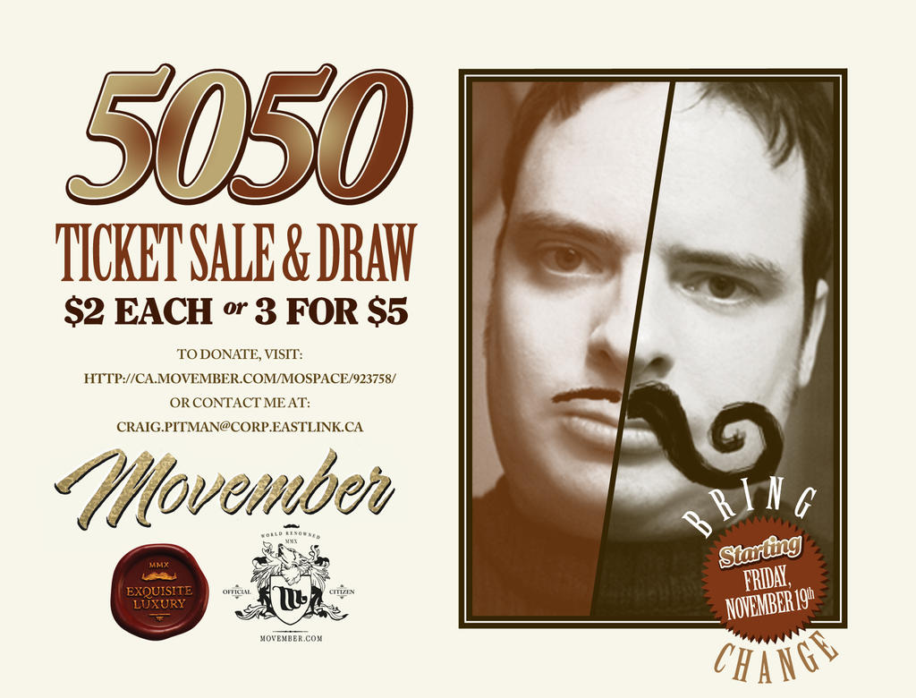 movember poster by crwpitman on movember 50 50 poster by crwpitman