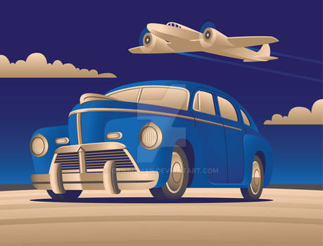 Art Deco with Plane