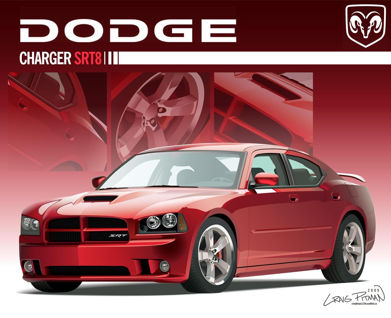 2006 dodge charger srt8 vector by crwpitman on deviantart. Black Bedroom Furniture Sets. Home Design Ideas