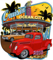 Cruisin' Ocean City 2016 T-Shirt