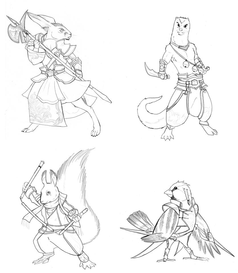 Dw Redwall Set 1 By Chibigingi On Deviantart Redwall Coloring Pages