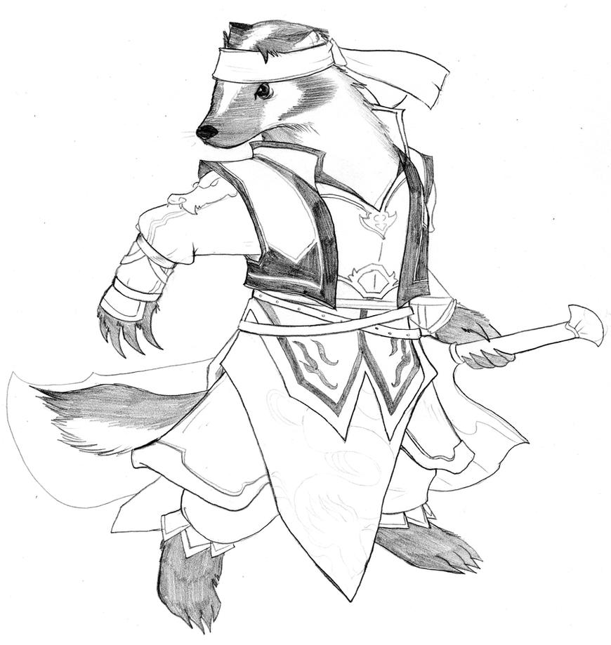 Dw Redwall Guan Ping By Chibigingi On Deviantart Redwall Coloring Pages