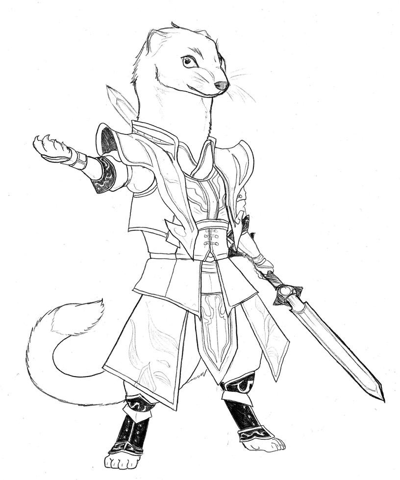 Dw Redwall Cao Pi By Chibigingi On Deviantart Redwall Coloring Pages