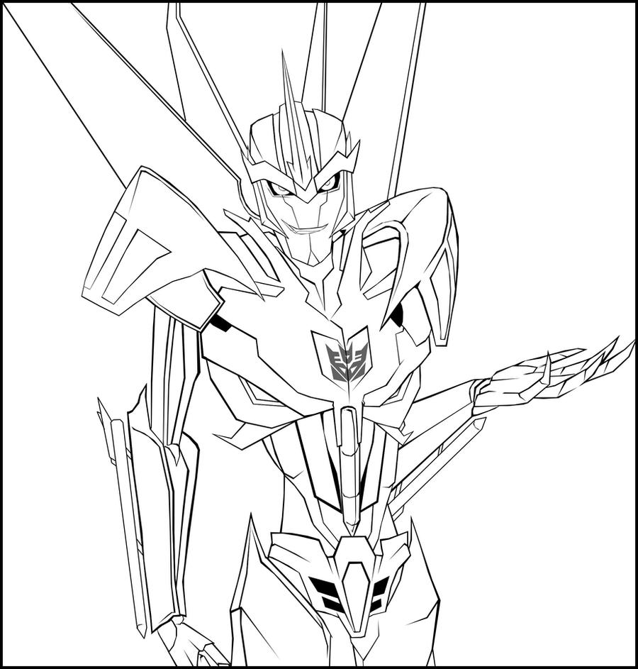Transformers Prime Starscream Coloring Pages  Coloring