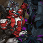 TF- Red Alert vs Soundwave and his Cassetticons