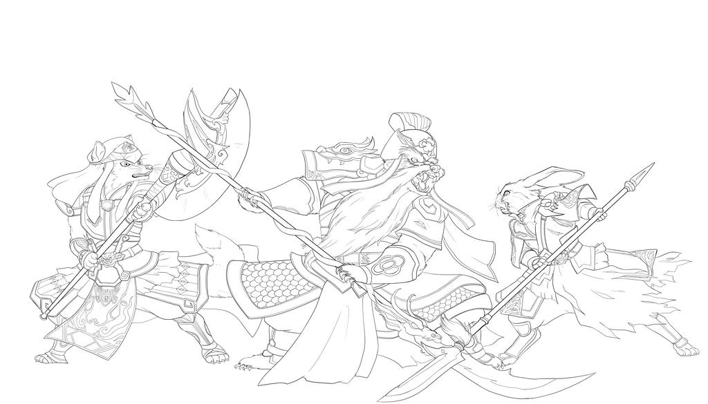 Dynasty Warriors: Redwall - Jing Province INKS by chibigingi