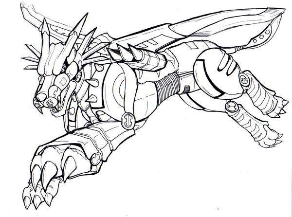 digimon weregarurumon coloring pages - photo#10