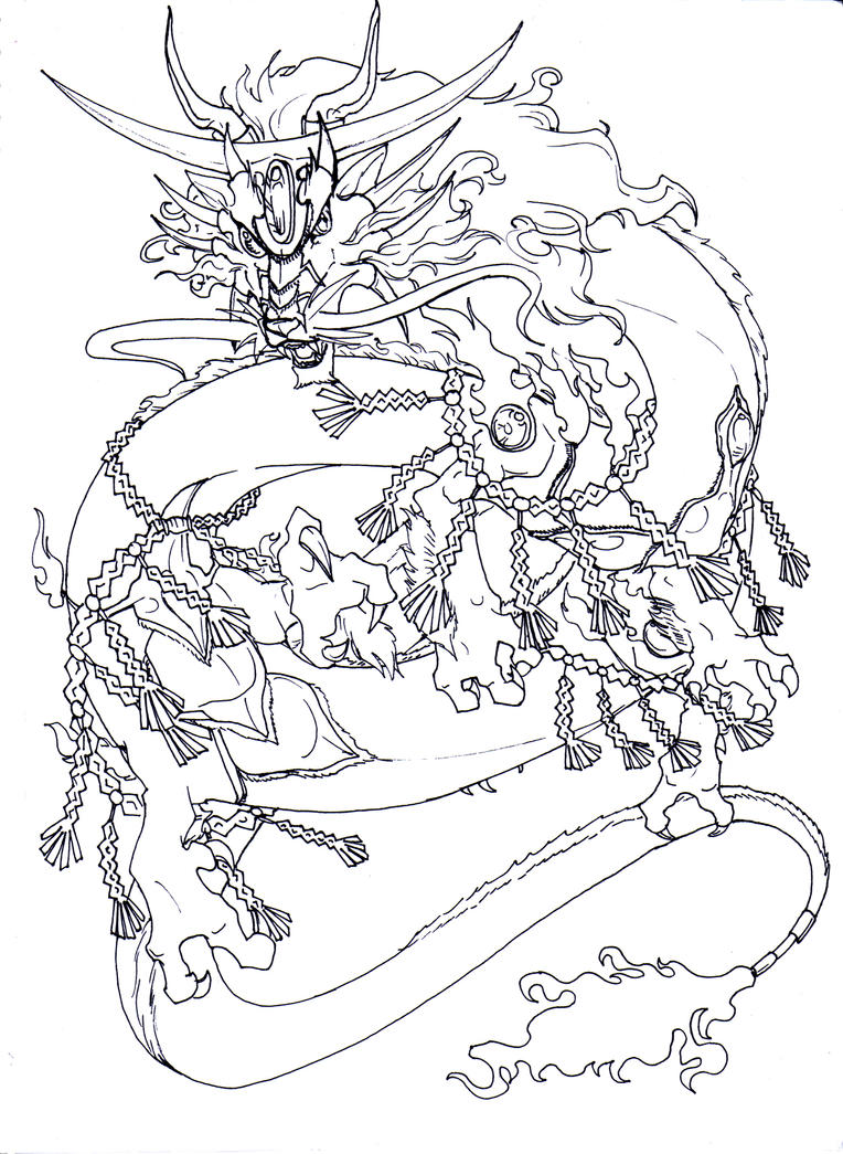 The One Eyed Dragon by chibigingi