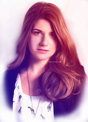 Laura Hollis in Oil Paint Effect by malshania