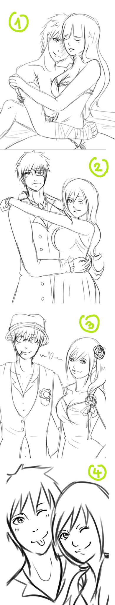 Sketchdump: Couples by LotteQ