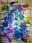 watercolors and chairs