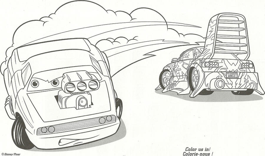 Snot rod and wingo by naruhinafanatic on deviantart - Coloriage cars wingo ...