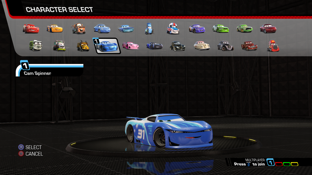 Cars 3 Driven To Win Cam Spinner By Naruhinafanatic On